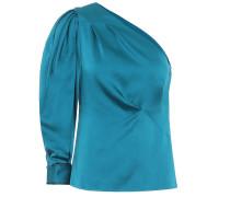 One-Shoulder-Bluse aus Satin