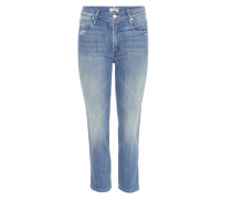 High-Rise Cropped Jeans Rascal aus Stretchdenim