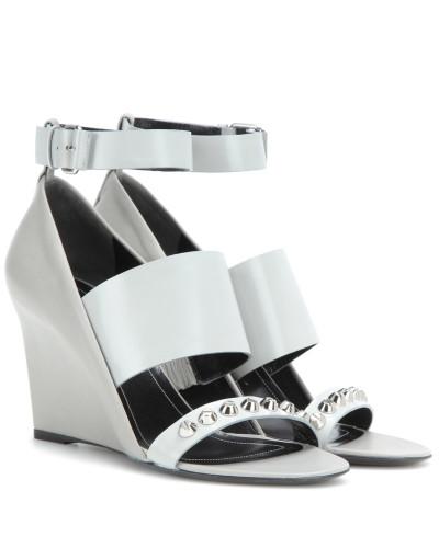 Balenciaga Damen Wedge-Sandalen aus Leder