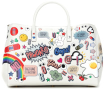 Shopper Ebury Maxi II All Over Stickers aus Leder