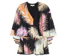 Bedruckte Bluse aus einem Seidengemisch