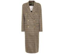 Karierter Mantel Cindy aus Wolle