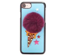 Hülle für das iPhone 7 aus Leder mit Fell