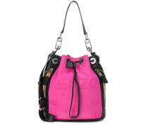 Bucket-Bag mit Leder