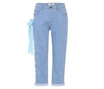 Boyfriend-Jeans mit Schnürung