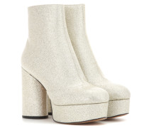 Ankle Boots Amber aus Leder mit Glitter