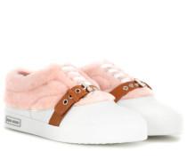 Sneakers aus Schaffell und Leder