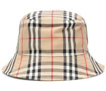 Karierter Hut mit Baumwollanteil