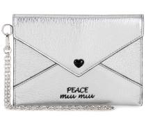 Portemonnaie Peace aus Metallic-Leder