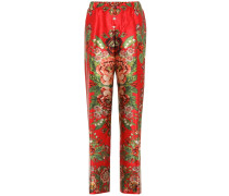 Bedruckte Pyjama-Hose Etere aus Seide