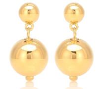 Vergoldete Ohrringe Ball Drop
