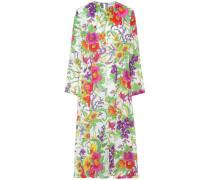 Kleid mit Print aus Seiden-Crêpe-Gemisch