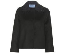 Verzierte Jacke aus Wolle, Angora und Kaschgora