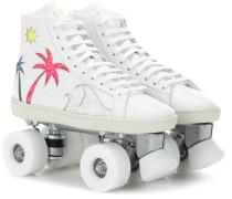 Verzierte Rollerskates SL/06M Sea, Sex & Sun aus Leder