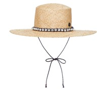 Verzierter Hut Lana aus Raffiabast