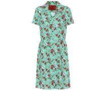 Bedrucktes Hemdblusenkleid aus Satin