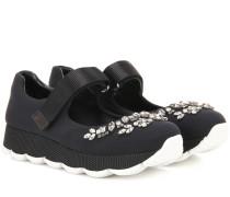 Verzierte Sneakers mit Kristallen