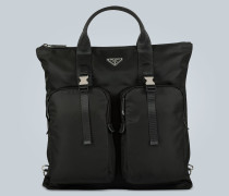 Tote Bag aus Nylon und Leder