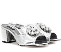 Mules Bianca Dubai 60 mit Kristallverzierung