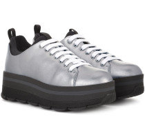 Sneakers Wave aus Metallic-Leder
