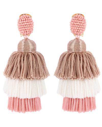 Clip-Ohrringe mit Troddeln