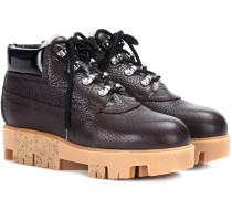 Boots Tinne aus genarbtem Leder und Shearling
