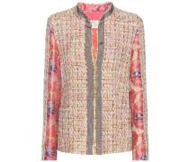 Jacke aus Baumwoll-Tweed und Jacquard