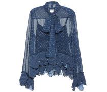 Chiffon-Bluse mit Rüschen