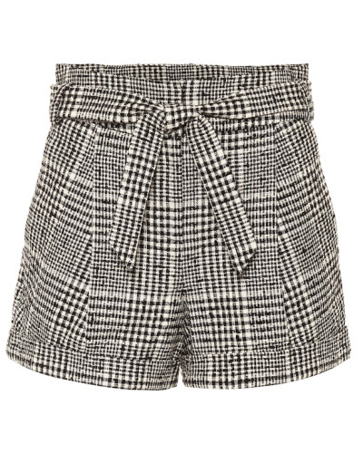 Karierte Shorts Michel aus Tweed