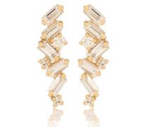 Ohrringe Fireworks aus 18kt Gelbgold mit Diamanten