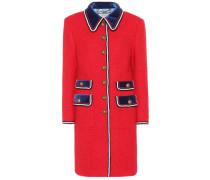 Mantel aus Tweed mit Samtdetails
