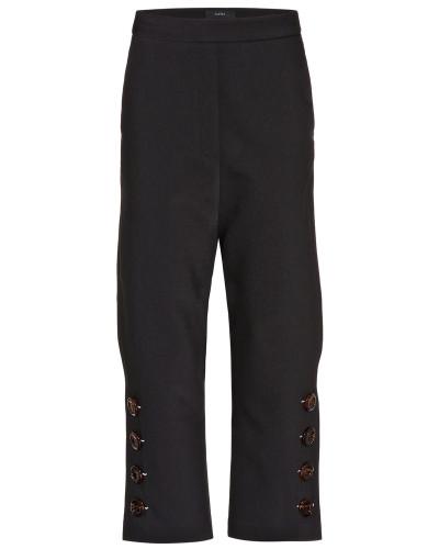 Verzierte Hose aus einem Wollgemisch