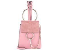 Schultertasche Faye Small Bracelet aus Leder und Veloursleder