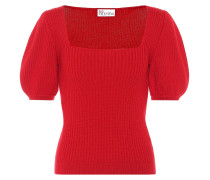 Kurzärmliger Pullover aus Wolle