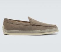Slip-on Loafers aus Veloursleder