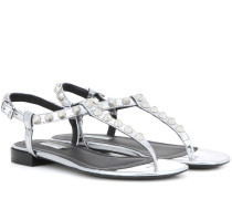 Sandalen Giant aus Metallic-Leder