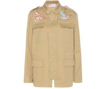 Bestickte Jacke aus Baumwoll-Twill