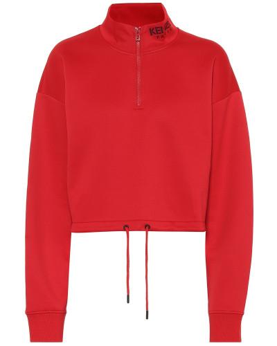 Cropped-Pullover mit Baumwollanteil