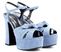 Plateausandalen Candy 80 aus Denim