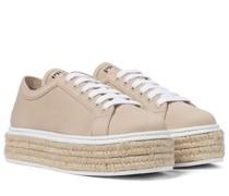Espadrille-Sneakers aus Canvas