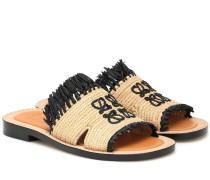 Paula's Ibiza Sandalen aus Raffiabast