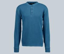 Henley-Langarmshirt aus Baumwolle