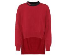 Asymmetrischer Pullover mit Cashmere