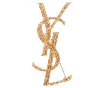 Brosche Opyum YSL mit Krokostruktur