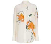 Bedrucktes Oversize-Hemd aus Seide