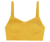 Cropped-Top aus Twill