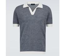 Poloshirt aus Baumwolle und Leinen