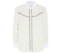 Bluse aus Guipure-Spitze aus einem Baumwollgemisch