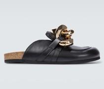 Loafer-Pantoletten aus Leder