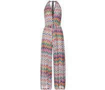 Neckholder-Kleid aus Häkelstrick